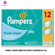 Pampers, Salviette umide Fresh Clean, confezione mensile doppia, 768 pz.