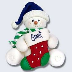 Polar bears, Polymer clay ornaments and Clay ornaments