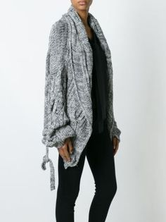 Vivienne Westwood Anglomania  cable knit cardi-coat
