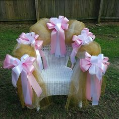 Beautiful Princess Themed Decorated Baby Shower Chair For Mommy To Be Designs By Monee