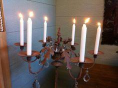Floor Iron Candlestick Chandelier  #ashersantiques #antiques www.ashersantiques.com