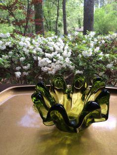 Murano Italian handblow Glass dish  by BellaMommaCollection, $20.00