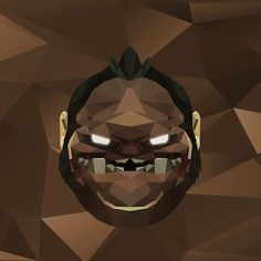 'Pudge Low Poly Art' by giftmones Dota 2 Wallpaper, Iphone Background Wallpaper, Dota Warcraft, Defense Of The Ancients, Low Poly, Vectors, Anime, Design, Aesthetic Art