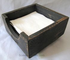 A friend of mine recently asked if I had ever made a napkin holder. Why no, I haven't, but it sounds like a fairly easy project and better yet, I could make one out of pallet wood and other scraps I … Wood Projects For Kids, Scrap Wood Projects, Diy Pallet Projects, Pallet Ideas, Pallet Crafts, Project Ideas, Craft Projects, Diy Crafts, Ana White