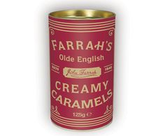Buy Farrah's Creamy Caramels Drum, from our Gift Food & Alcohol range at John Lewis & Partners. Whittard, Food Gifts, Coffee Cans, Yummy Treats, Whiskey Bottle, Drums, Conditioner, Alcohol, Caramels