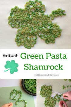 St Patrick's day crafts: Brilliant shamrock craft that kids will absolutely love St Patrics Day Crafts, Crafts For Kids To Make, Craft Activities For Kids, Infant Activities, Projects For Kids, Kids Crafts, Stem Projects, Craft Ideas, Toddler Preschool