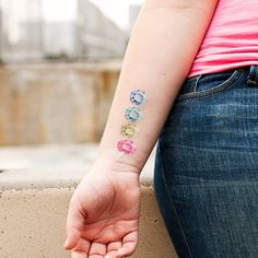gemstone temporary tattoos