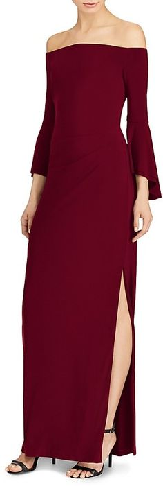 Lauren Ralph Lauren Off-the-Shoulder Gown. Ralph Lauren fashions. I'm an affiliate marketer. When you click on a link or buy from the retailer, I earn a commission.
