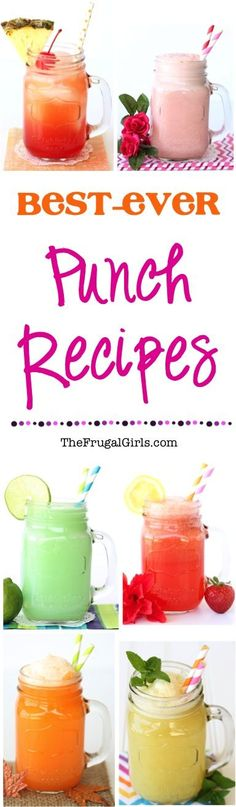 Best Ever Party Punch Recipes! ~ from TheFrugalGirls.com ~ you'll LOVE these easy delicious drinks... the perfect addition to your next Birthday, Wedding Shower or Baby Shower! #recipe #punches #thefrugalgirls