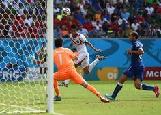 RECIFE, BRAZIL - JUNE 20: Bryan Ruiz of Costa Rica scores his team's first goal past Gianluigi Buffon of Italy during the 2014 FIFA World Cup Brazil Group D match between Italy and Costa Rica at Arena Pernambuco on June 20, 2014 in Recife, Brazil. (Photo by Laurence Griffiths/Getty Images)