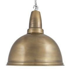 Large Retro Industrial Metal Pendant Bar Lighting - Brass - 17inch