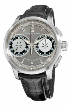 Maurice Lacroix Men's MP7128-SS001320 MasterPiece Grey and Silver Dial Watch Maurice Lacroix. Save 40 Off!. $9994.99. Sapphire crystal. Stainless steel case. Water-resistant to 100 M (330 feet). Swiss manual wind mechanical movement. Grey chronograph dial