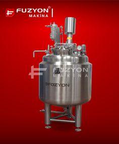 Proses Tankı - Paslanmaz Çelik 500 litre kapasiteli Solüsyon Üretim Tankı | Füzyon Makina