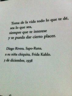 Diego Rivera, a su niña chiquita, Frida Kahlo.