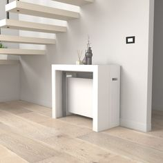 Tavolo cucina - Consolle allungabile Mercurio per sala da pranzo e soggiorno, in diverse finiture legno. Design moderno e minimale. Struttura allungabile Console Table, Console Extensible, Consoles, Petites Tables, Design Moderne, Dining Room, Loft, House Design, Furniture