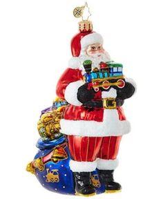 Christopher Radko Choo-Choo Santa Christmas Ornament