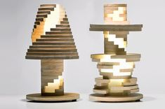 Babele Lamp is Like A Giant Puzzle Photo. Or Jenga meets table lamp.