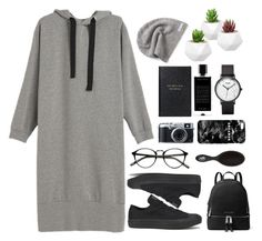 """Untitled #165"" by imelda-marcella-chandra ❤ liked on Polyvore featuring Converse, Fujifilm, MICHAEL Michael Kors, Smythson, Agonist, Mr. Gugu & Miss Go and CLUSE"