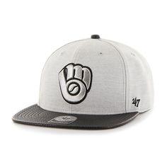 32b0b2105f2 Milwaukee Brewers Riverside Captain Gray 47 Brand Adjustable Hat