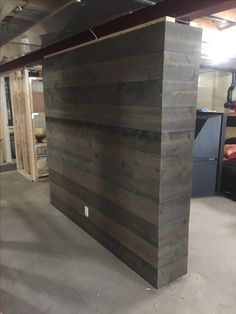 Our barnboard wall