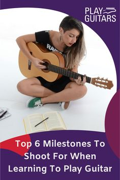 Are you learning how to play guitar and need some musical motivation? Check out what goals you need to make beginner guitar songs look easy. Learn Guitar Beginner, Guitar Songs For Beginners, Learn To Play Guitar, Guitar Tips, Guitar Lessons, Heavy Metal Guitar, Guitar Notes, Guitar Players, Indie Movies