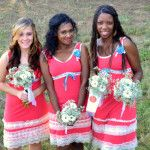 Bridesmaid with their bouquets Lily Pulitzer, Bouquets, Wedding Flowers, Bridesmaid, Make It Yourself, How To Make, Dresses, Fashion, Maid Of Honour