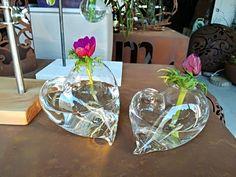 vasetto cuore orizzontale, vetro Pyrex soffiato, 2 misure, 2 colori disponibili, Handmade in Italy di vetroedesign su Etsy