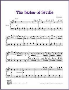 Barber of Seville (Rosinni) | Free Sheet Music for Piano