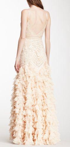 Blush Ruffled Gown