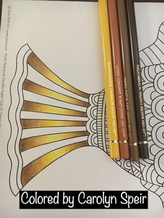 Polychromos Gold Combination by Carolyn Speir Colour Pencil Shading, Blending Colored Pencils, Color Pencil Art, Color Blending, Coloring Tips, Coloring Books, Coloring Pages, Adult Coloring, Colored Pencil Tutorial