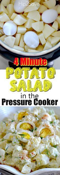 Pressure Cooker Potato Salad Recipe – Hip2Save                                                                                                                                                     More How To Cook Squash, Salad Recipes, Cereal, Breakfast, Cooking, Food, Baking Center, Eten, Hoods