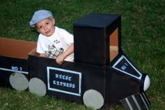 Do the picture they take at party in a DIY built train?