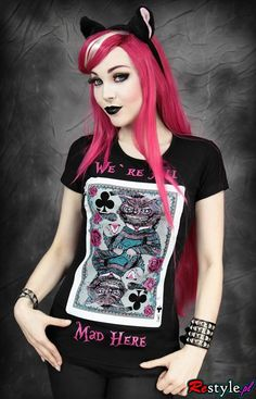 RESTYLE | T-SHIRT | We're all Mad Here Beserk