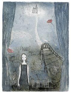 "Emmi Vuorinen: ""Sinne toivon salaa"" Water Lilies, Suddenly, Artist At Work, Finland, Printmaking, Bloom, Paintings, Memories, Dreams"