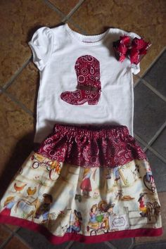 Cowgirl outfit by DesignbyKesia on Etsy, $30.00