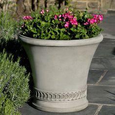 Campania International, Inc Round Pot Planter Finish: Brownstone