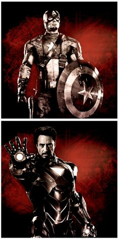 Captain America  Iron Man#Repin By:Pinterest++ for iPad#
