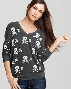 WILDFOX Sweater - Knighthood Skull | Bloomingdale's