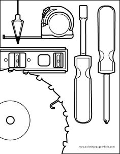 carpenter tools coloring pages - photo#30