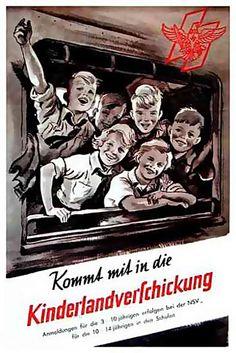 Propaganda poster - sending German children to the countryside.