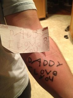 Troy wants his son to write his name and xfer to tat