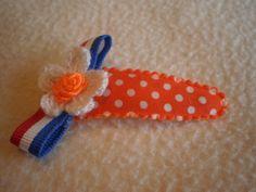 Klik-klak knipje 5 cm Oranje Stip