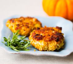 Toasty Pumpkin Chickpea Fritters. Optionally gluten free. (Try crushed Rice Chex instead of panko, or cooked polenta)