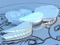 Cultural Center For Children on Behance Theatre Architecture, Concept Models Architecture, Architecture Concept Diagram, Architecture Building Design, Cultural Architecture, Organic Architecture, Futuristic Architecture, Landscape Architecture, Clubhouse Design