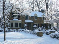 Pretty house in winter