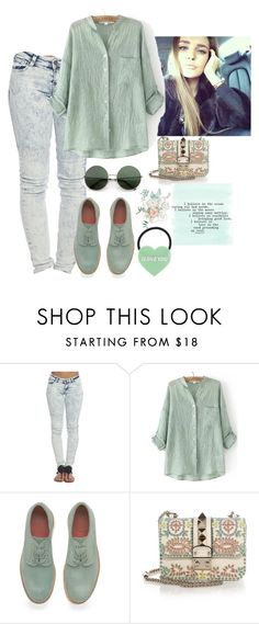 """Sin título #668"" by mafer-cmxxi on Polyvore featuring moda, Wet Seal, Grenson y Valentino"