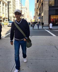 on 5th Avenue Fashion Street, New York | #diesel canvas , @rayban sunglasses  @converse white ankle heights | Model @rajsuri ・・・ #NewYork 2016 | The Global Style Man  #menstyle #greystyle #gentleman #classy #blogger #male  #globalstyleman #experience  #suit #style #man #vip #celebrity #fashion #mensfashion  #suit #Australian  #50plusstyle #model #photographer #actor #personal #training #branding #streetstyle #olderguy #menofstyle #ageless #plazauomo