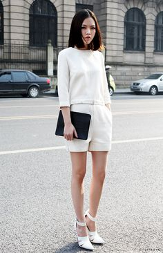 Such a chic white out look.