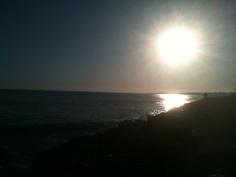 Por do sol na Cruz Quebrada
