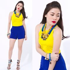 Our Firenze (blue) and Urban Gem (yellow) bead bracelets as seen on #wearcharlie's outfit post. To place an order, please text 0999-8894770 or email lepapillonbrand@gmail.com. You may also visit WC's Eastwood showroom by texting the # above. #Repost from @wearcharlie